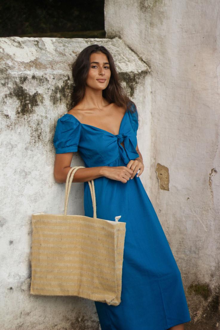Vestido Olívia Azul Arara