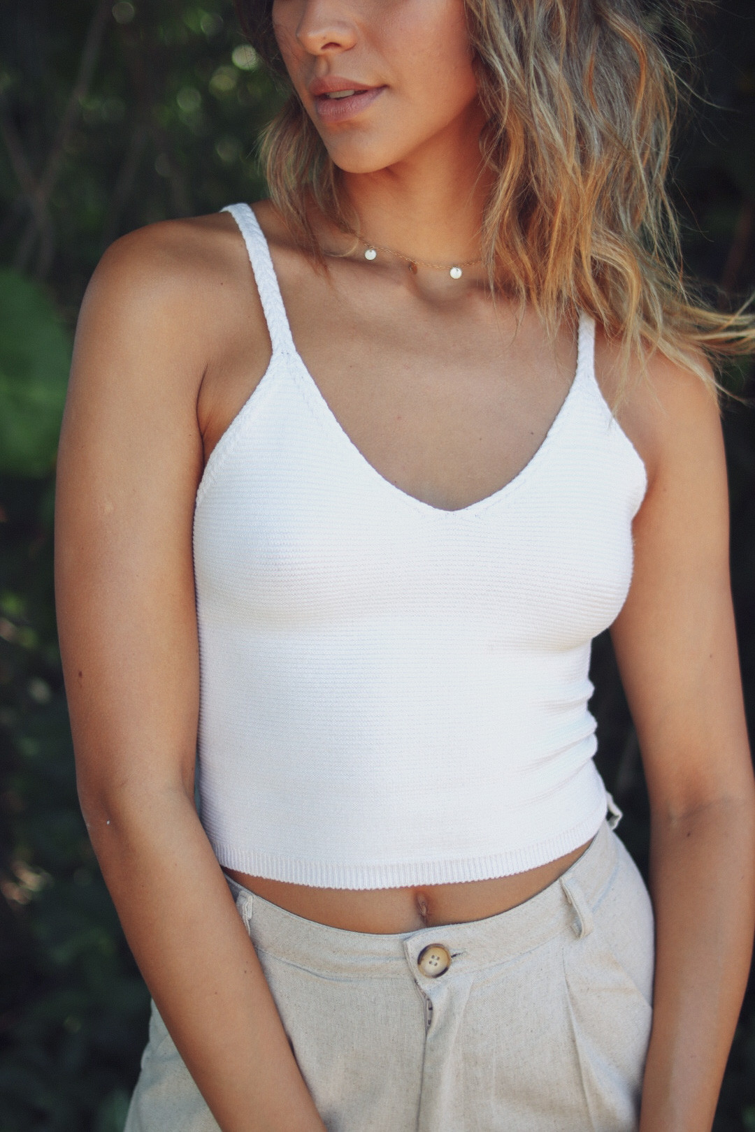 Cropped Dina Offwhite