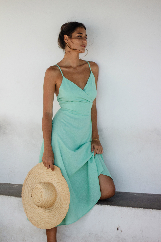 Vestido Yara Verde Água