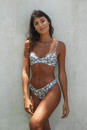 Top Meia Taça Margarida Azul
