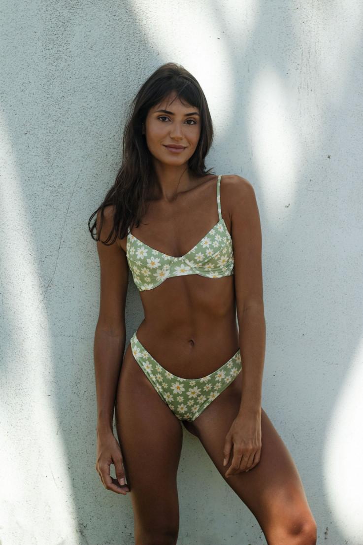 Top Meia Taça Margarida Verde